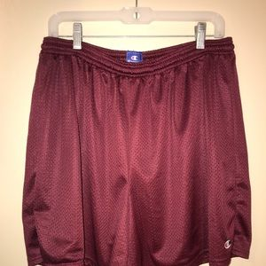 Burgundy Champion Mesh Shorts